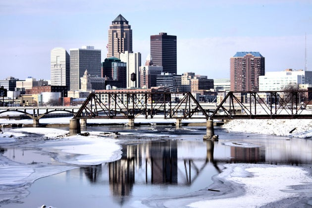 iced river in Iowa