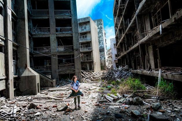 japan island nagasaki kyushu abandoned japanese industrial nobody 736066