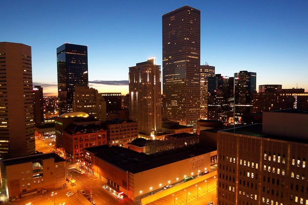 city lights in colorado