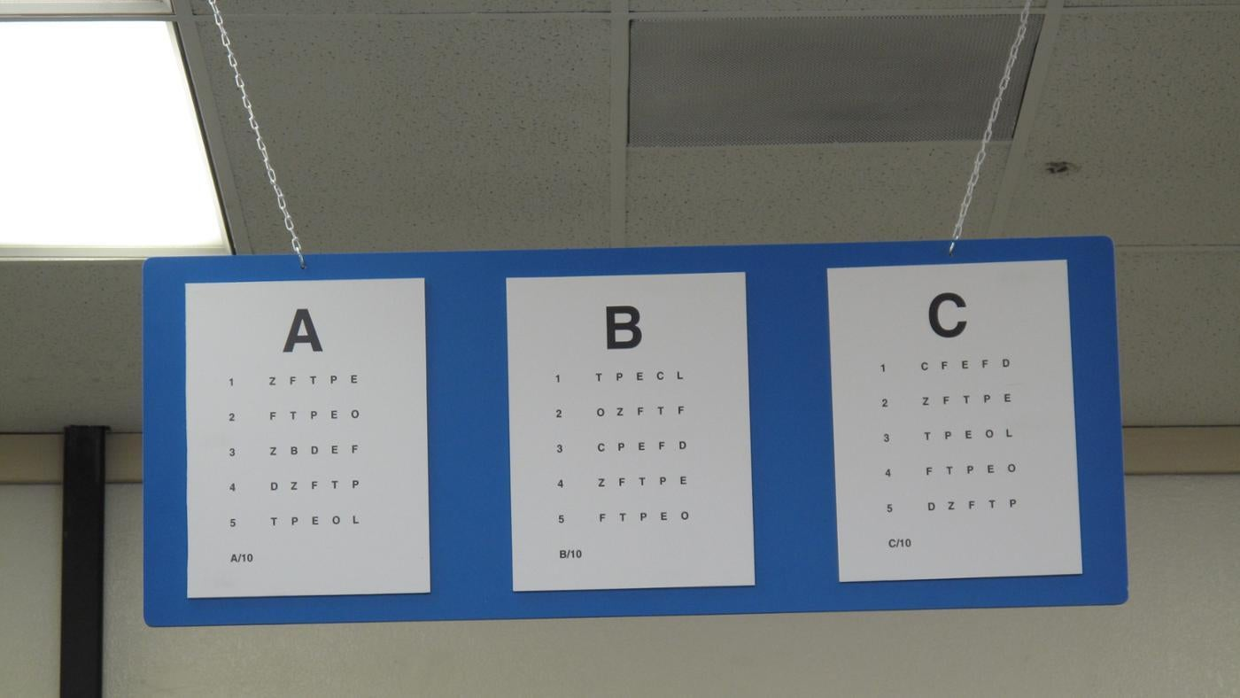 What Is A Dmv Eye Chart Reference Com