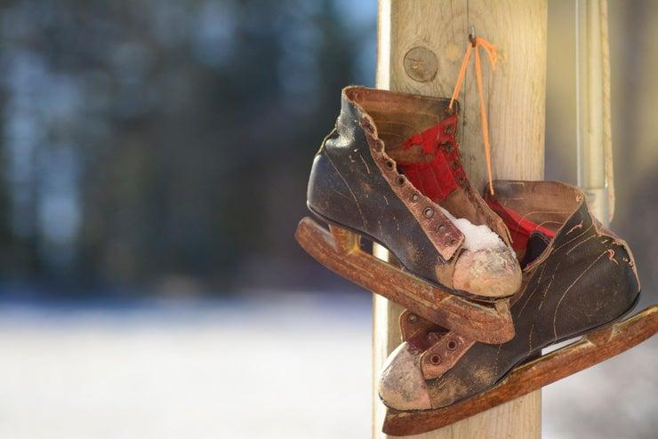 rusty ice skates