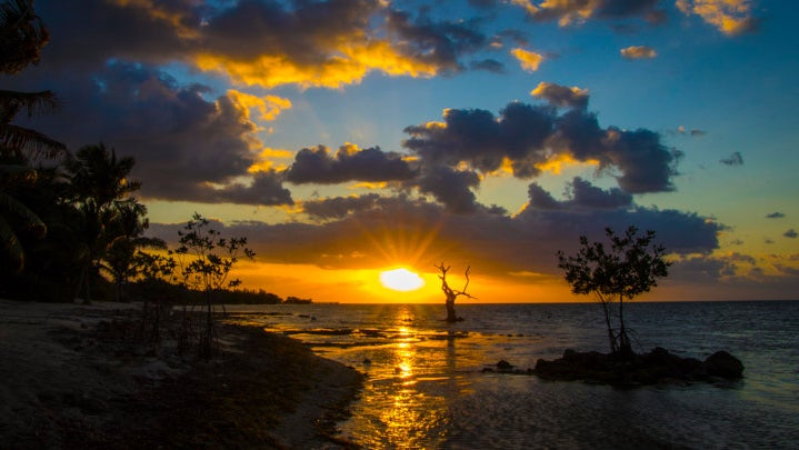 Florida sunset on the ocean