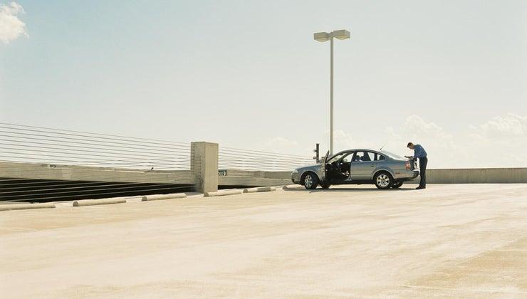 name-concrete-object-end-parking-spot