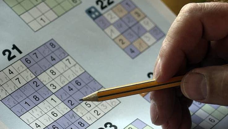 Person Solving Sudoku