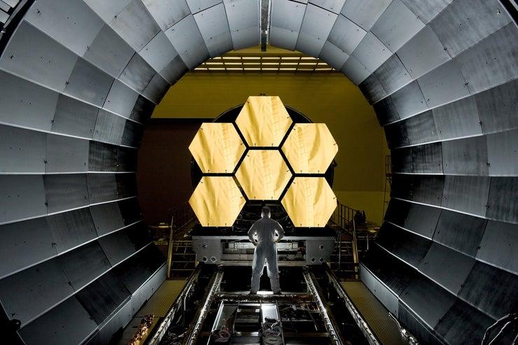 Space Telescope Mirror Segments James Webb Cosmos 46168