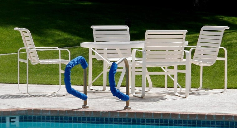 Clean Vinyl Straps Patio Furniture