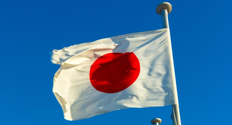 color-symbol-japan-s-flag-stand
