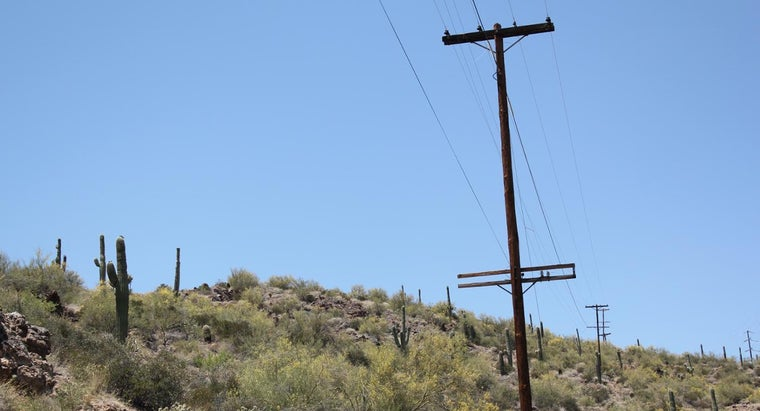 far-apart-telephone-poles-situated