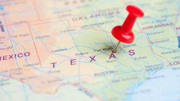 What Does a Large Map of Texas Show?