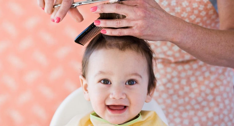 one-give-first-haircut-baby