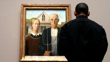 What Is the Painting of a Farmer and His Wife and a Pitchfork?