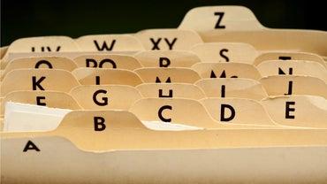How Do You Properly File Alphabetically?