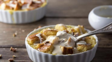 What Is a Simple Recipe for Bread Pudding and Sauce?