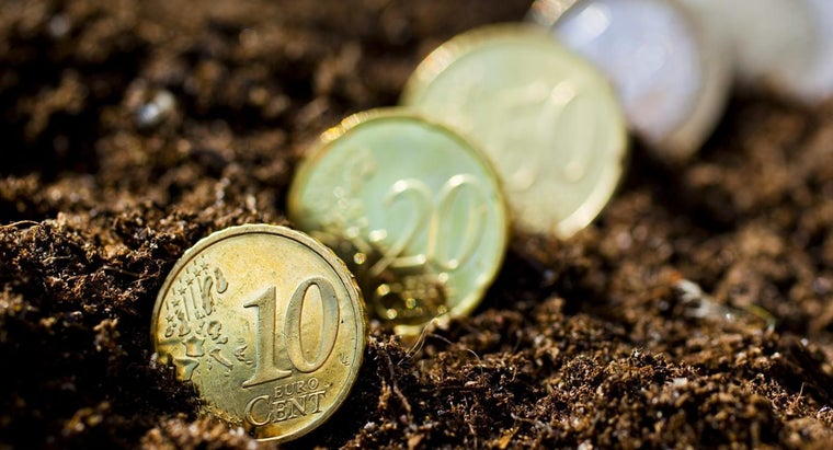 soil-coin-tied-piece-textile-material-mean