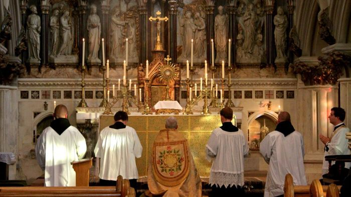 Where can you watch a Catholic mass online?