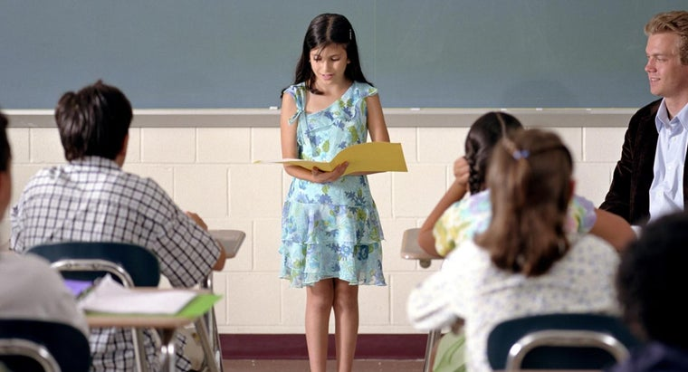 What Are Some Kids Speeches for School?