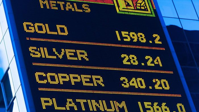 What type of information is on silver price history chart?