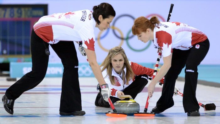 What are some of the popular curling teams in Canada?