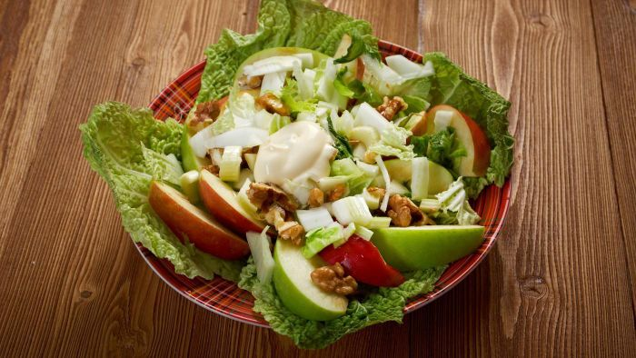 What Are Some Good Recipes for a Waldorf Salad Using Apples?