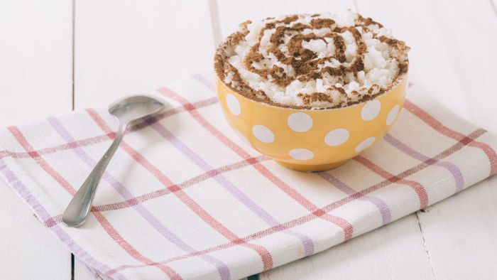 What Is a Recipe for Baked Creamy Rice Pudding?