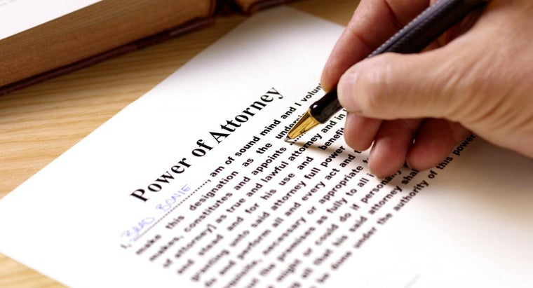 Why Do You Give Someone Power of Attorney?
