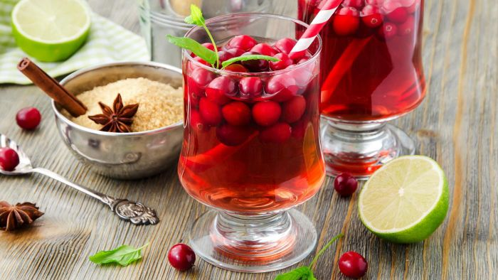 What are some recipes for cranberry punch?