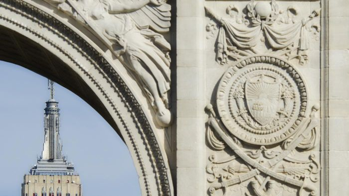 """What Is the Meaning of the Word """"excelsior"""" on the New York Coat of Arms?"""