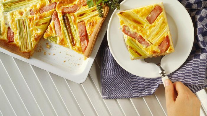 What Is an Easy Ham Quiche Recipe?