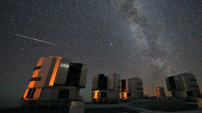 Is there a way to check projected meteor shower times?
