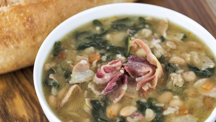 Should You Leave the Bone in When You Make Slow Cooker Ham and Bean Soup?