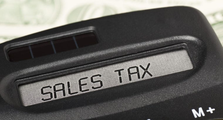 Where Can You Find a Sales Tax Chart Ordered by State?