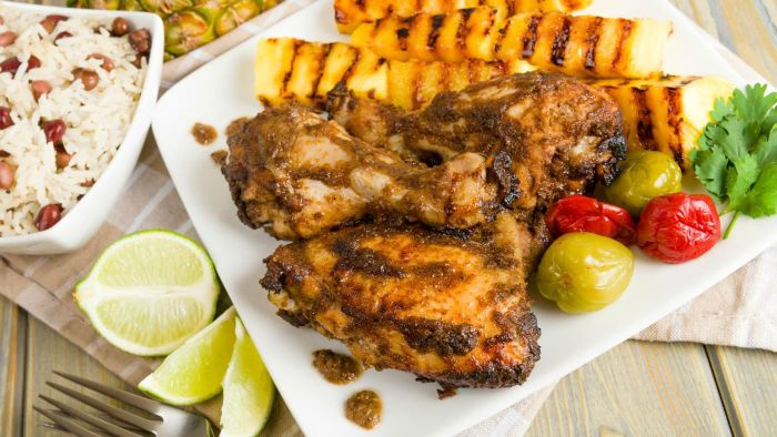 What is a good recipe for traditional jerk chicken?