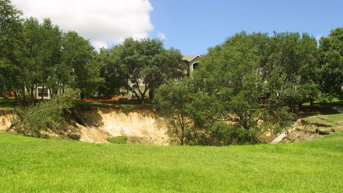 Where Can You Find a Map of Sinkholes in Florida?