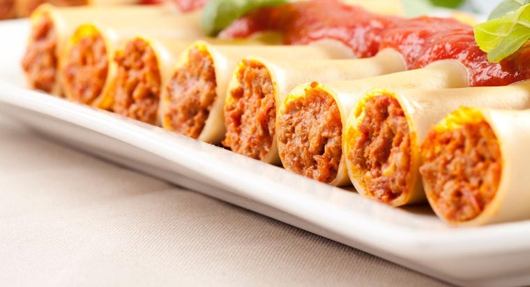 What Is a Low-Fat Recipe for Stuffed Manicotti?