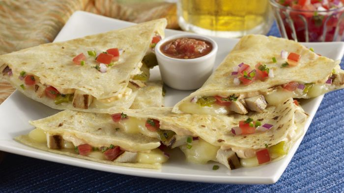 What Are the Main Ingredients in a Chicken Quesadilla Recipe?