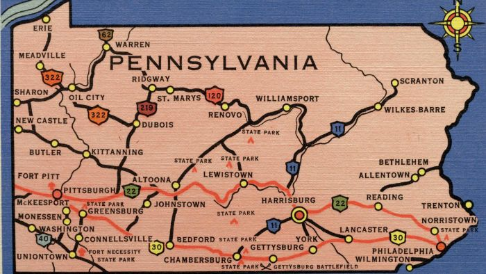 Who Made the First Road Map of Pennsylvania?
