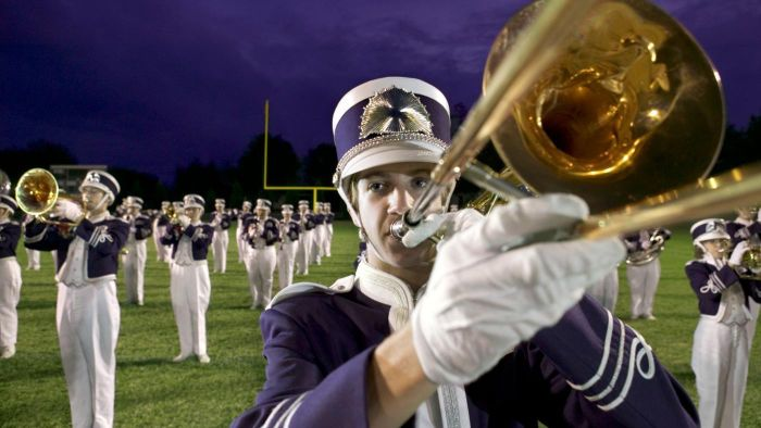 What Are Some Good Sheet Music Scores for Marching Bands?