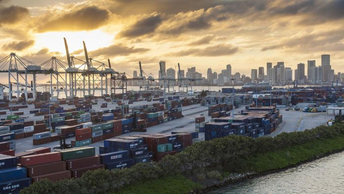 What is the address to the Port of Miami in Florida?