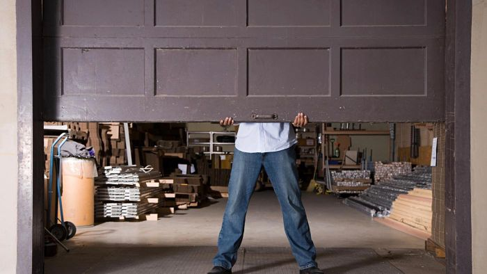 What are some basic tips for garage door maintenance?