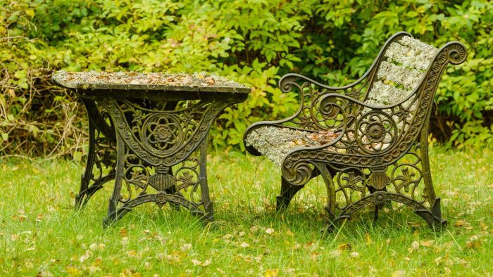 Where can you find vintage cast iron furniture?