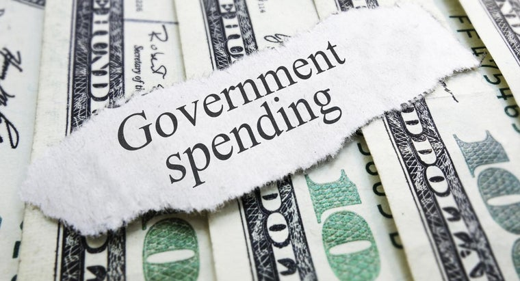 How Do You Find the Government Deficit Listed by Year?