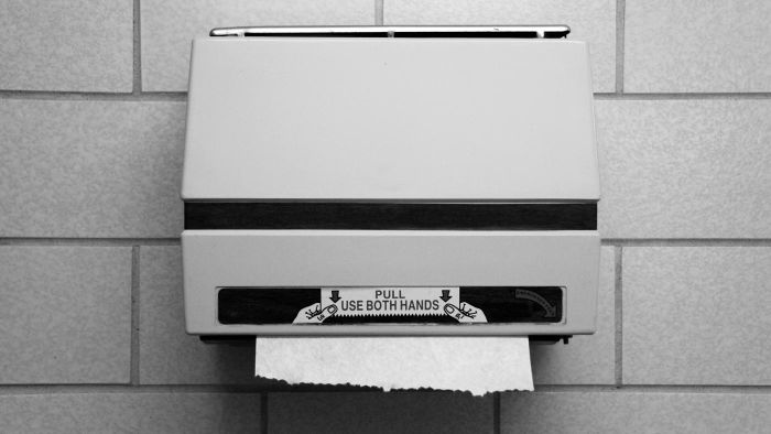 What are some different hand towel dispensers?