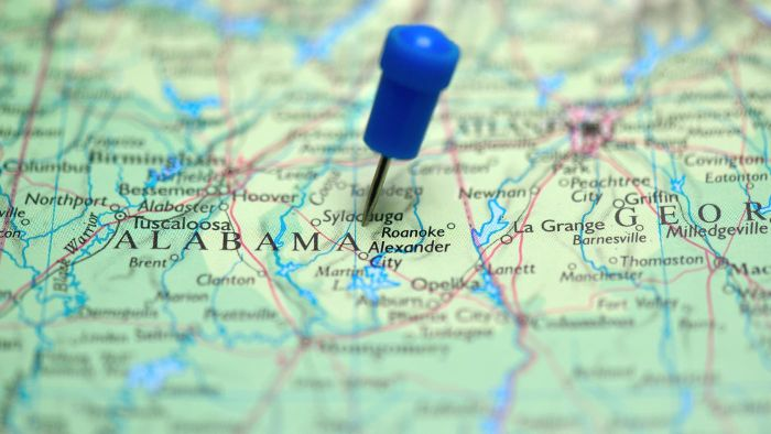 How Could You Find an Alabama Map Dating to When It Became an Official State?