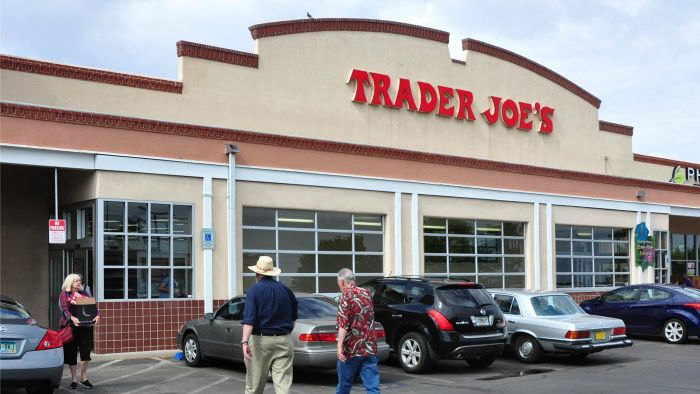 What are the most common foods purchased in Trader Joe's grocery store?