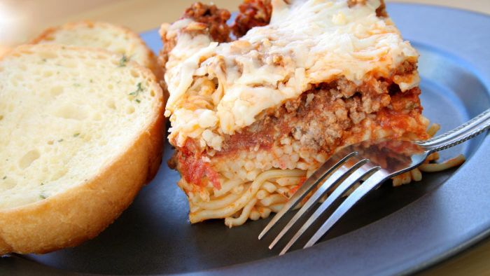 Is There a Low-Fat Recipe for Baked Spaghetti Casserole?