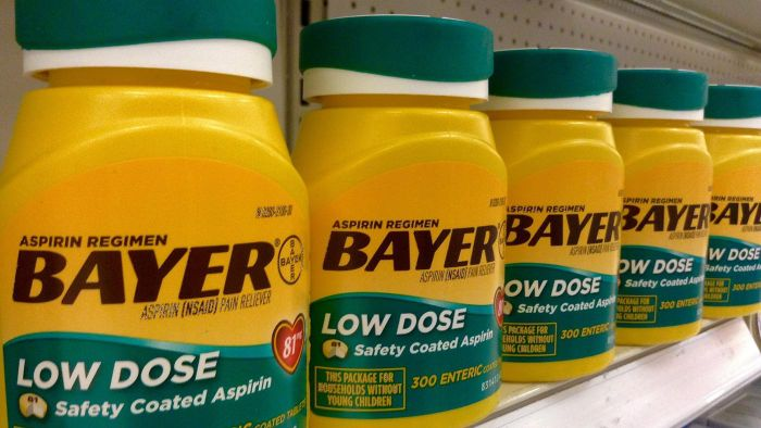 What is Bayer aspirin made of?
