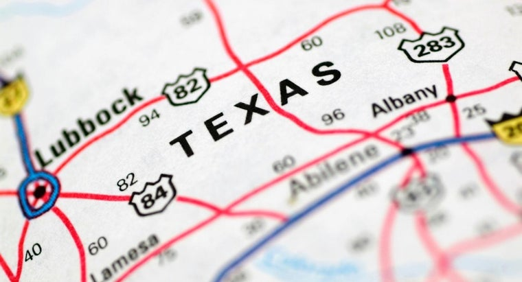 Where Can You Find a Map of Texas That Shows Cities?