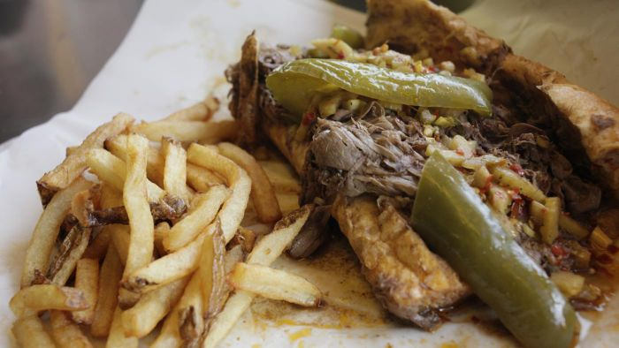 How do you make Italian beef in the Crock-Pot?