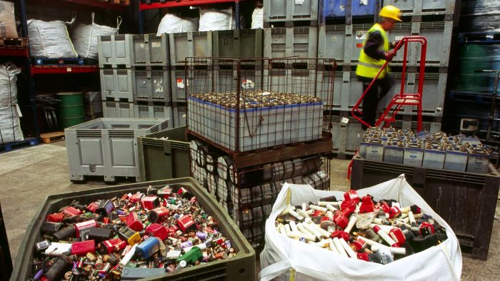 How can you find local battery recycling sites?