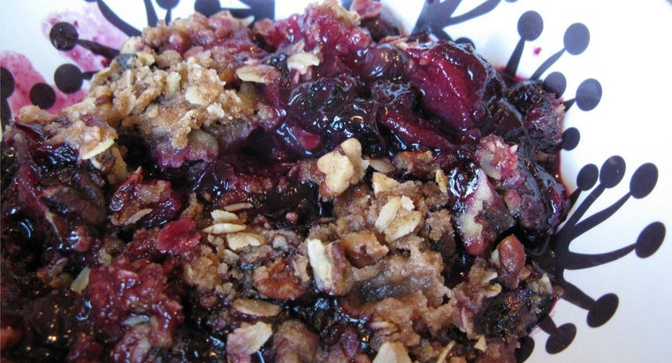 What Is a Good Recipe for Blueberry Crisp?